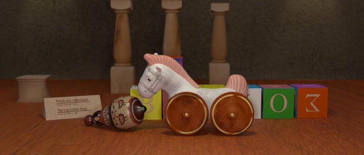Valios horse ancient greek toys