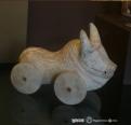 ancient greek clay toy - αρχαίο πήλινο παιχνίδι πάνω σε ρόδες