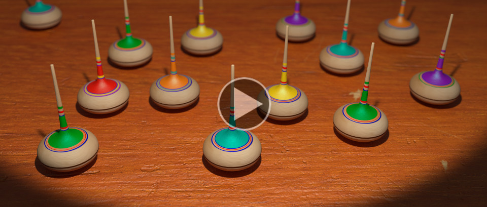 ancient spinning tops