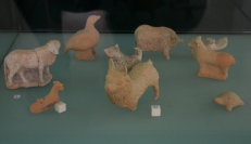 Ancient greek toys made with clay - zoomorphic greek toys made with clay