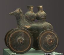 Ancient greek clay horse - greek toys - greek clay horses - αρχαίο πήλινο αλογάκι