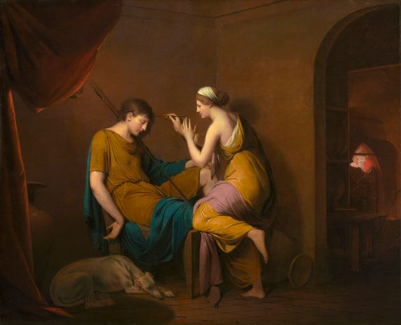 Joseph_Wright_of_Derby._The_Corinthian_Maid._c.1782-5.