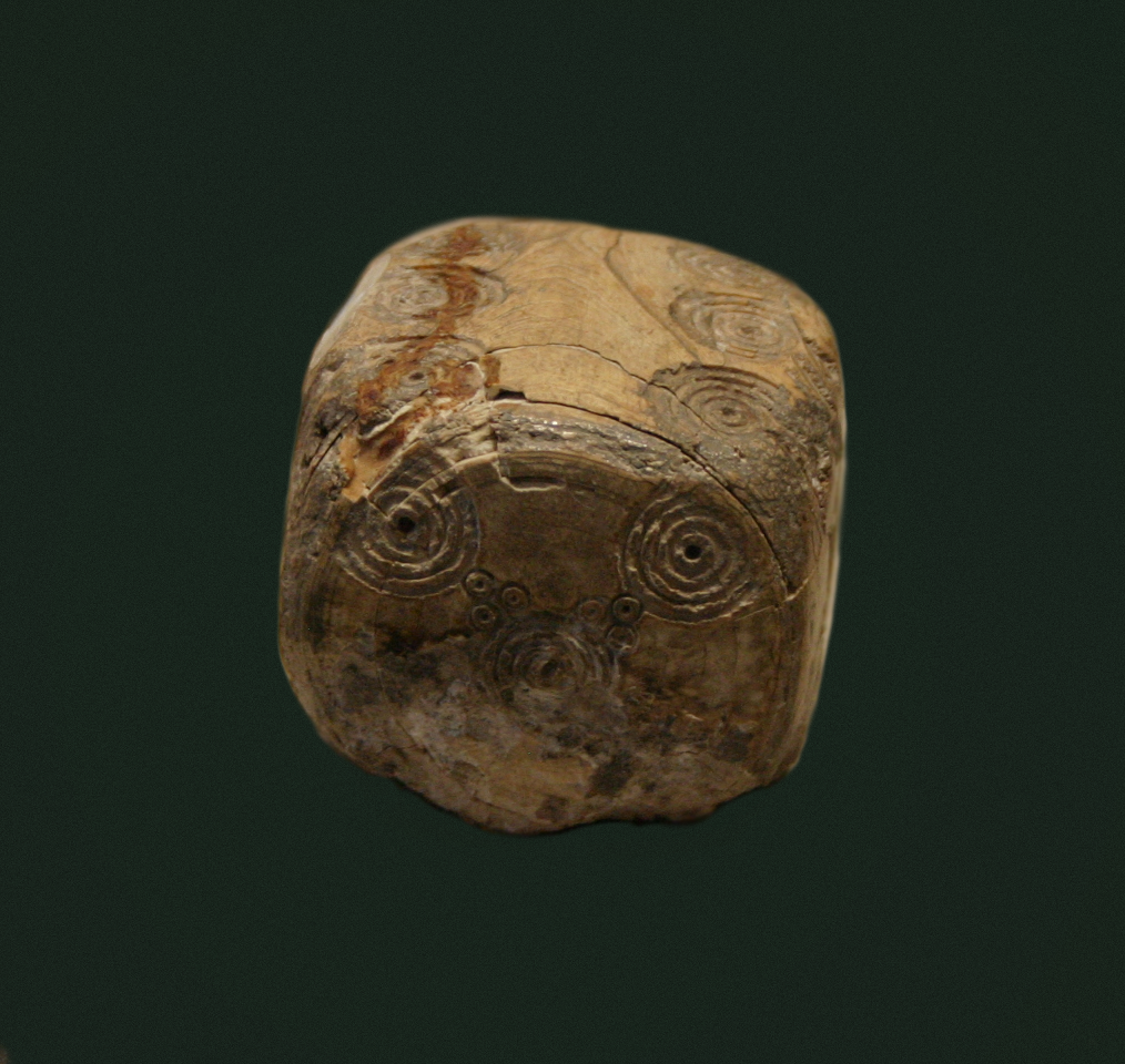 Ivory dice from ancient Rome. Roman imperial period. Archeologico di Milano