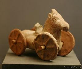 ancient horse on wheels from cinquantenaire museum