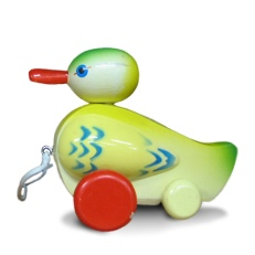 vintage pull toy duck