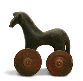 Pull ancient toy horse
