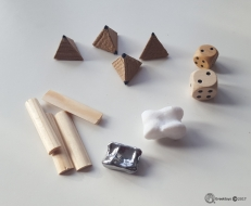 Ancient dice from 3000 BC till Roman times
